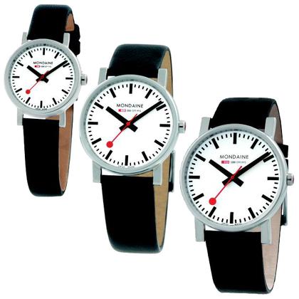 Mondaine Watch Band Black Leather