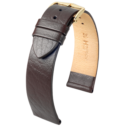 Hirsch Calf Watch Band Calfskin Brown
