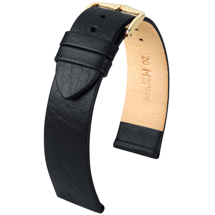 Hirsch Calf Watch Band Calfskin Black