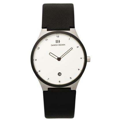 Watch Strap Danish Design IV12Q884, IV13Q884 - black leather