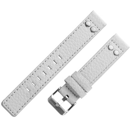 OOZOO Watch Band White Leather with Studs