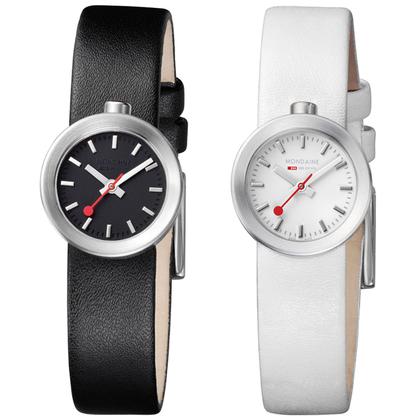 Mondaine Aura Watch Strap white or black type 30324