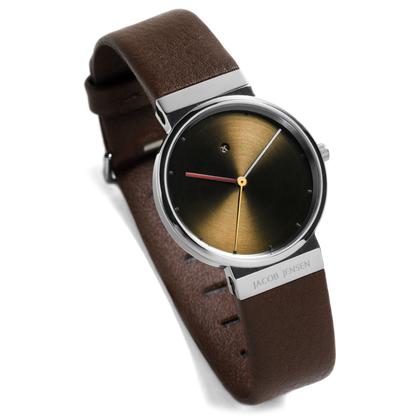 Jacob Jensen Watch Band 853 dark-brown leather 17mm