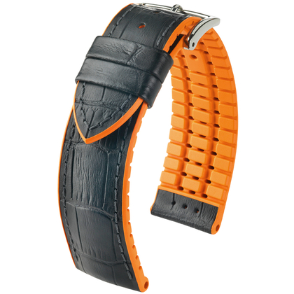 Hirsch Andy Performance Collection Black/Orange Leather/Rubber 300m WR
