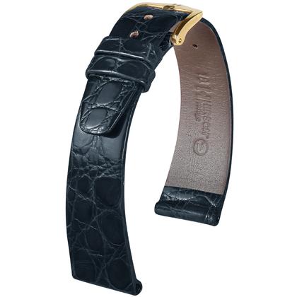 Hirsch Prestige Crocodile Skin Watch Band Black