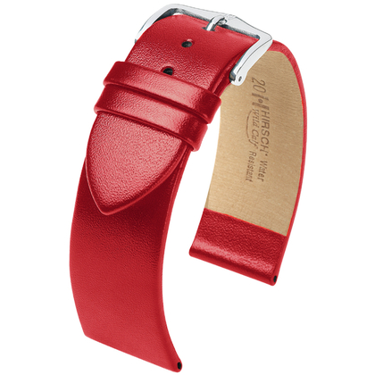 Hirsch Wild Calf Watchband Red