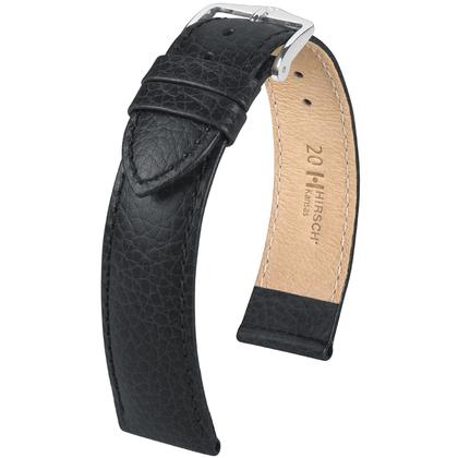Hirsch Kansas Watchband Buffalograin Black