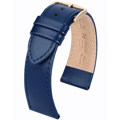 Hirsch Umbria Watchband Italian Calfskin Blue