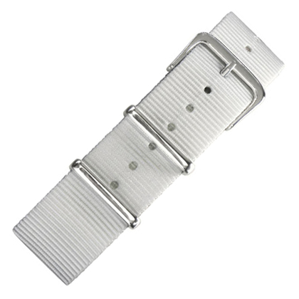 White NATO Military Nylon Strap - SS