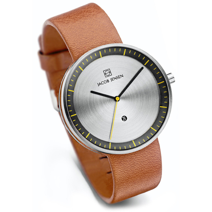 Jacob Jensen Watch Band Strata 271, cognac leather 20mm