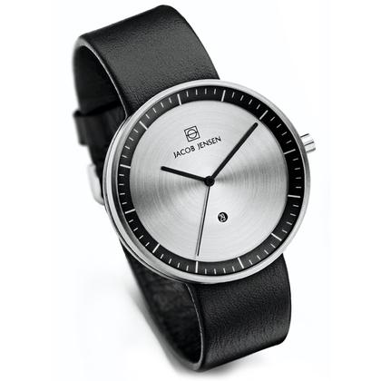 Jacob Jensen Watch Band Strata 270, 274 black leather 20mm