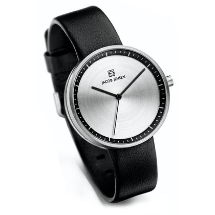 Jacob Jensen Watch Band Strata 280, 284 black leather 16mm
