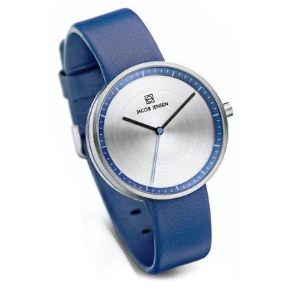 Jacob Jensen Watch Band Strata 282, blue leather 16mm