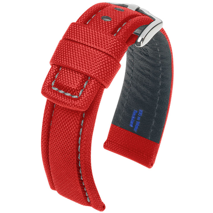 Hirsch Freestyle Watch Band High-Tech Textile 100m WR Red