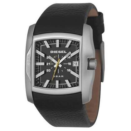 Diesel DZ1178 Watch Strap Black Leather