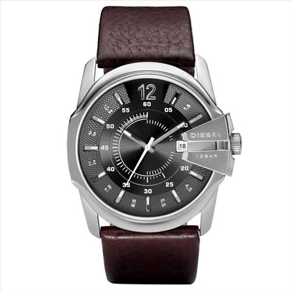 Diesel DZ1206 Watch Strap Brown Leather