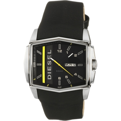 Diesel DZ1340 Watch Strap Black Leather