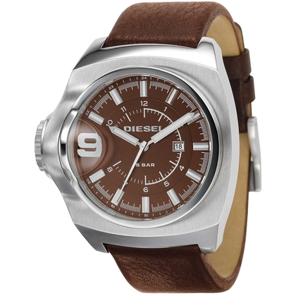 Diesel DZ1234 Watch Strap Brown Leather