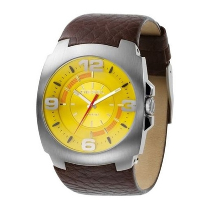 Diesel DZ1111 Watch Strap Brown Leather