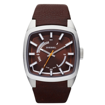 Diesel DZ1528 Watch Strap Brown Leather
