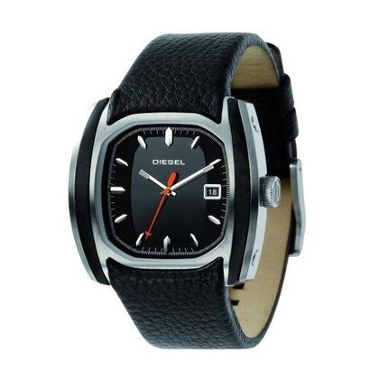 Diesel DZ1106 Watch Strap Black Leather
