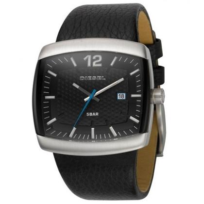 Diesel DZ1203 Watch Strap Black Leather