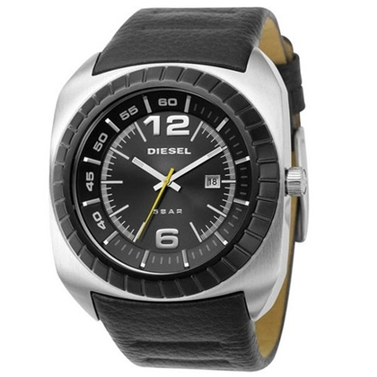 Diesel DZ1276 Watch Strap Black Leather