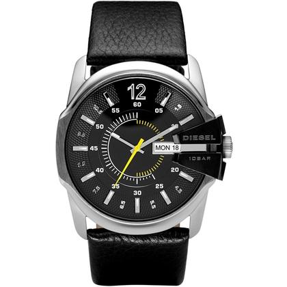 Diesel DZ1295 Watch Strap Black Leather