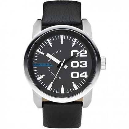 Diesel DZ1373 Watch Strap Black Leather