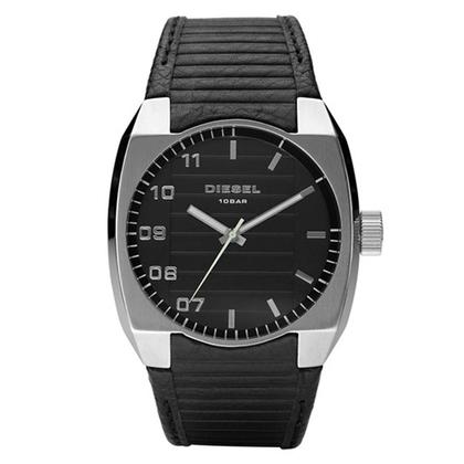 Diesel DZ1393 Watch Strap Black Leather