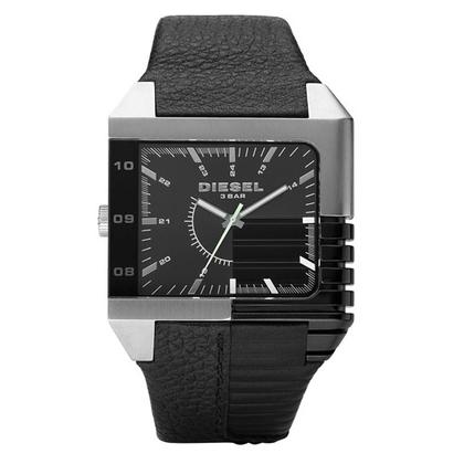 Diesel DZ1397 Watch Strap Black Leather