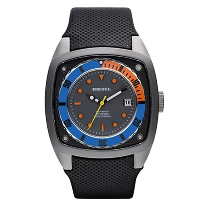 Diesel DZ1490 Watch Strap Black Leather