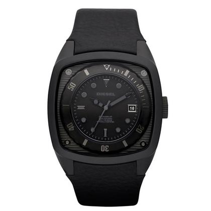 Diesel DZ1492 Watch Strap Black Leather