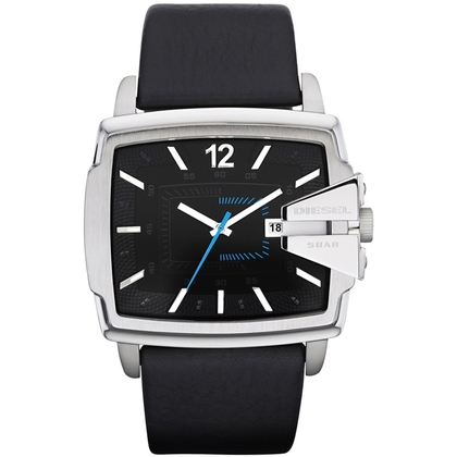 Diesel DZ1495 Watch Strap Black Leather