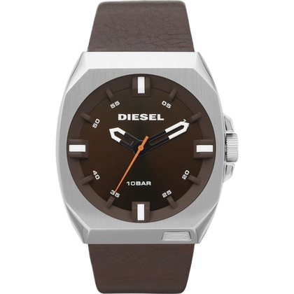 Diesel DZ1544 Watch Strap Brown Leather