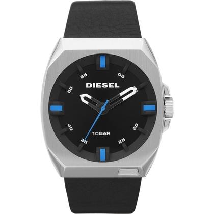 Diesel DZ1545 Watch Strap Black Leather