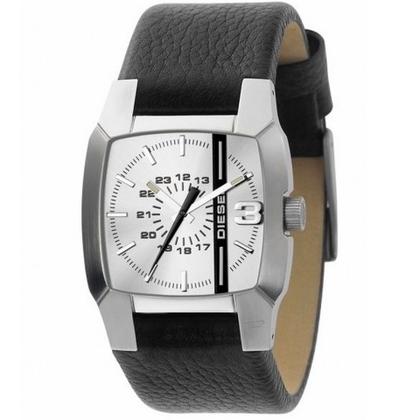Diesel DZ1091 Watch Strap Black Leather