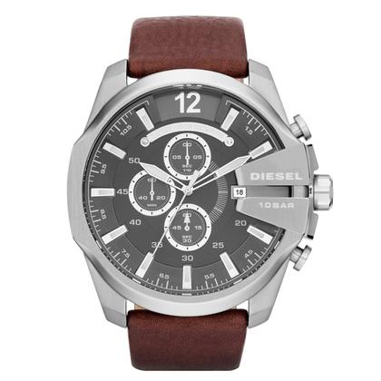 Diesel DZ4290 Watch Strap Brown Leather