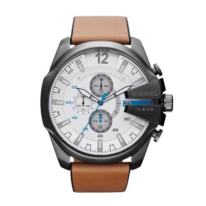 Diesel DZ4280 Watch Strap Brown Leather