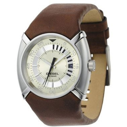 Diesel DZ3037 Watch Strap Brown Leather