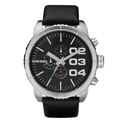 Diesel DZ4208 Watch Strap Black Leather