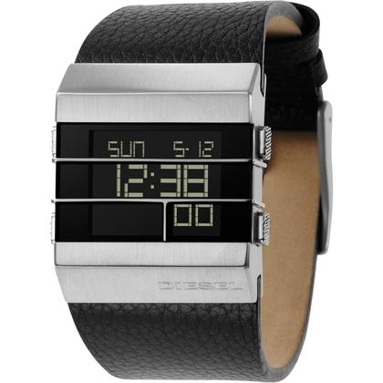 Diesel DZ7069 Watch Strap Black Leather