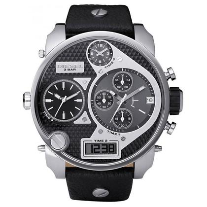 Diesel DZ7125 Watch Strap Black Leather