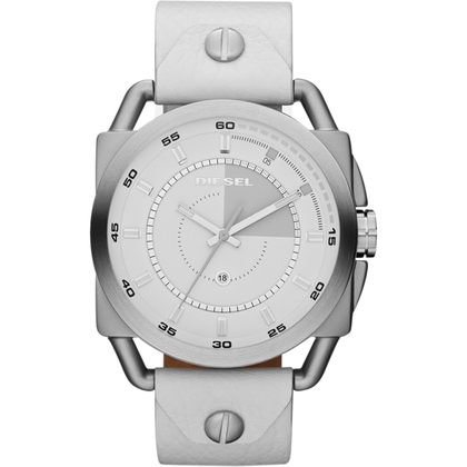 Diesel DZ1577 Watch Strap White Leather