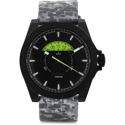 Diesel DZ1658 Watch Strap Grey Leather