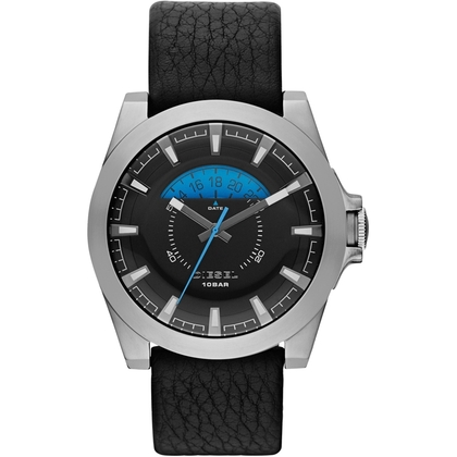 Diesel DZ1659 Watch Strap Black Leather