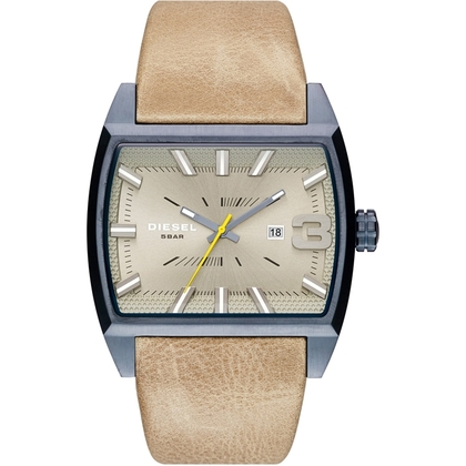 Diesel DZ1703 Watch Strap Beige Leather