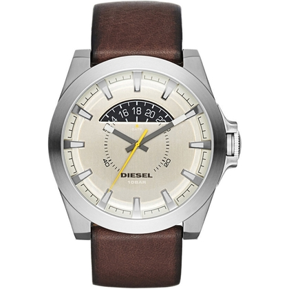 Diesel DZ1690 Watch Strap Brown Leather