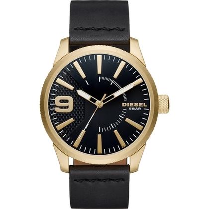 Diesel DZ1801 Watch Strap Black Leather
