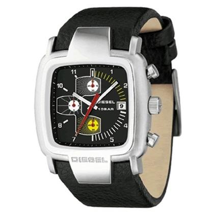 Diesel DZ4028 Watch Strap Black Leather